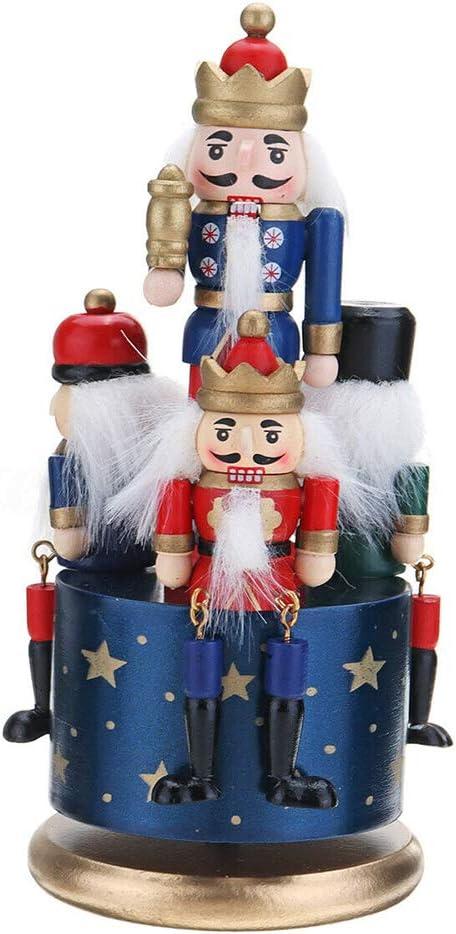 Grande garde en bois Casse-Noisette 4 Soldier Toys Music Box Xmas Christmas Gift