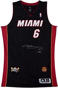 LeBron James Signed 2013 Dual Patch Miami Heat Authentic Jersey ...