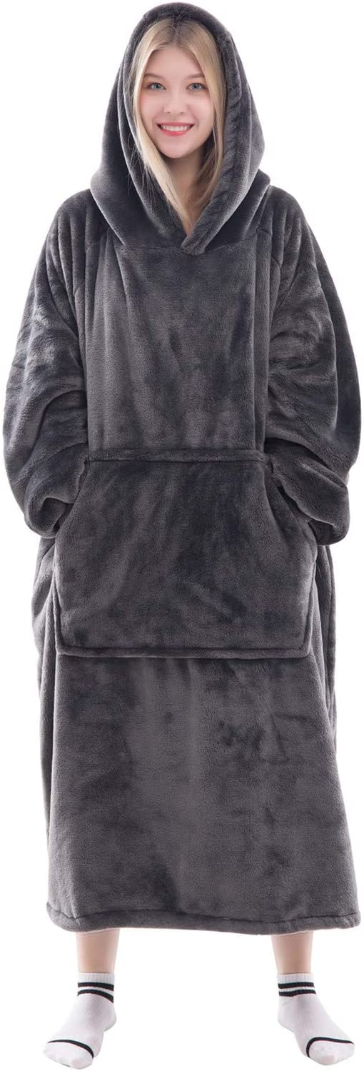 Tr2WW3S-G0 FNAF/_World Kids Adults Hooded Blanket Throw Wearable Printed Robe Cuddle Soft Fuzzy Pullover Warm