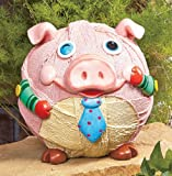 Whimsical Winking Pig Garden Statue Yard Art Review