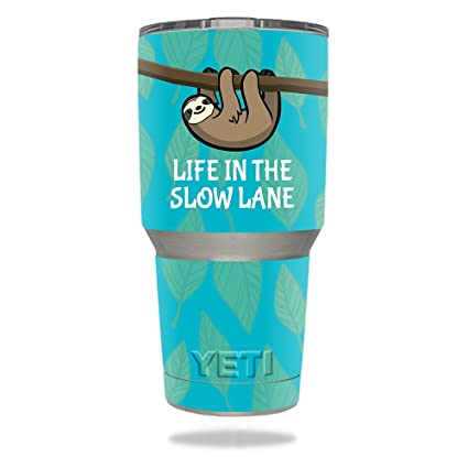 fe322761abe MightySkins Skin Compatible with Yeti 30 oz Tumbler - Slow Sloth |  Protective, Durable, and Unique Vinyl Decal wrap Cover | Easy to Apply,  Remove, and ...
