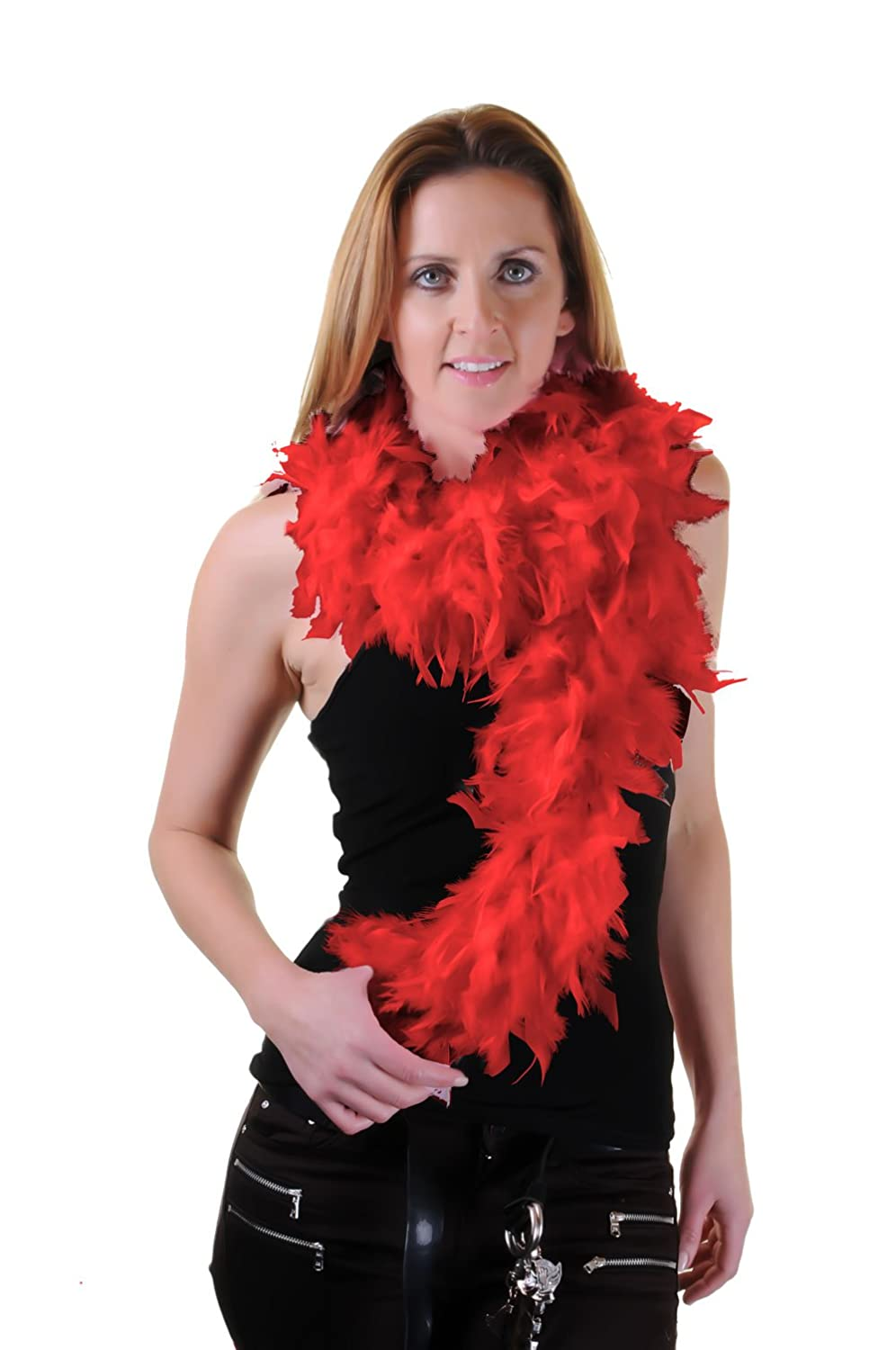 High Quality 150 cm Feather Boas Great for Hen and Stag Nights (Red) FNA Fashions FB010