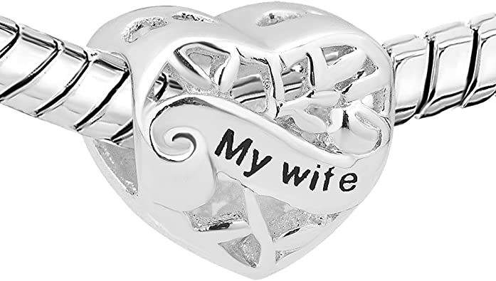 pandora charm cuore my wife