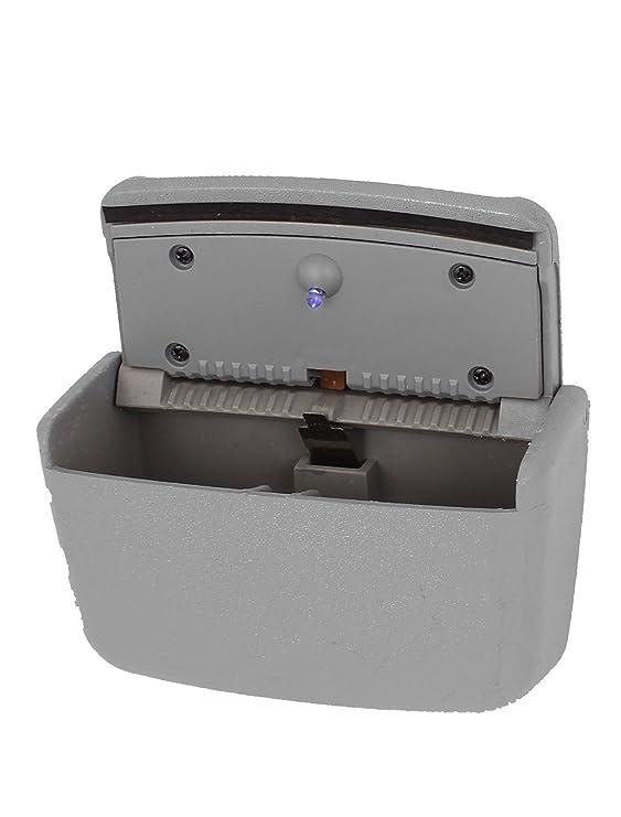 Sourcingmap Cubo Negro Cenicero para Coche Rectangular Tapa Met/álica 93mm X 40mm
