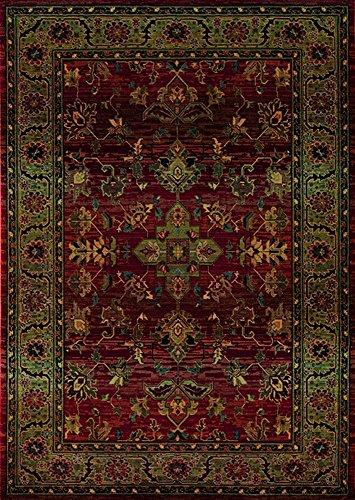 Kharma 836C4 Area Rug, 2' x 3', Red (Kharma Runner Rug)