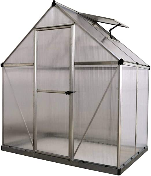 Viva Green 1174 _ 701636 Multiline Invernadero policarbonato/plástico Aluminio 2, 3 m² 185 x 126 x 208 cm: Amazon.es: Jardín