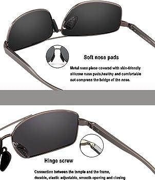 51376bc2ea5 Sport Polarized Sunglasses For Men-wearPro Ultralight Rectangular Sunglasses  Driving Fishing 100 % UV Protection WP9006 ...