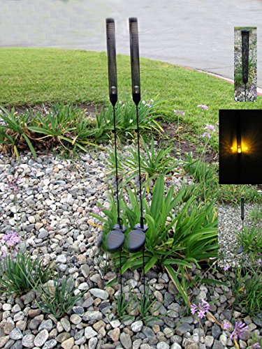 [CAT TAIL YELLOW LED SOLAR STAKE LIGHT] (Solar Cattail)