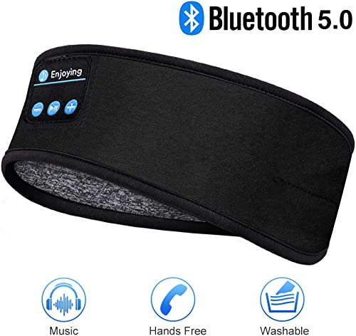 Sleep Headphones Bluetooth Headband-Wireless Sports Headband Headphones with Ultra-Soft Music Headband-Perfect Sleeping Headphones for Side Sleepers Workout Jogging Yoga Insomnia Air Travel Meditation