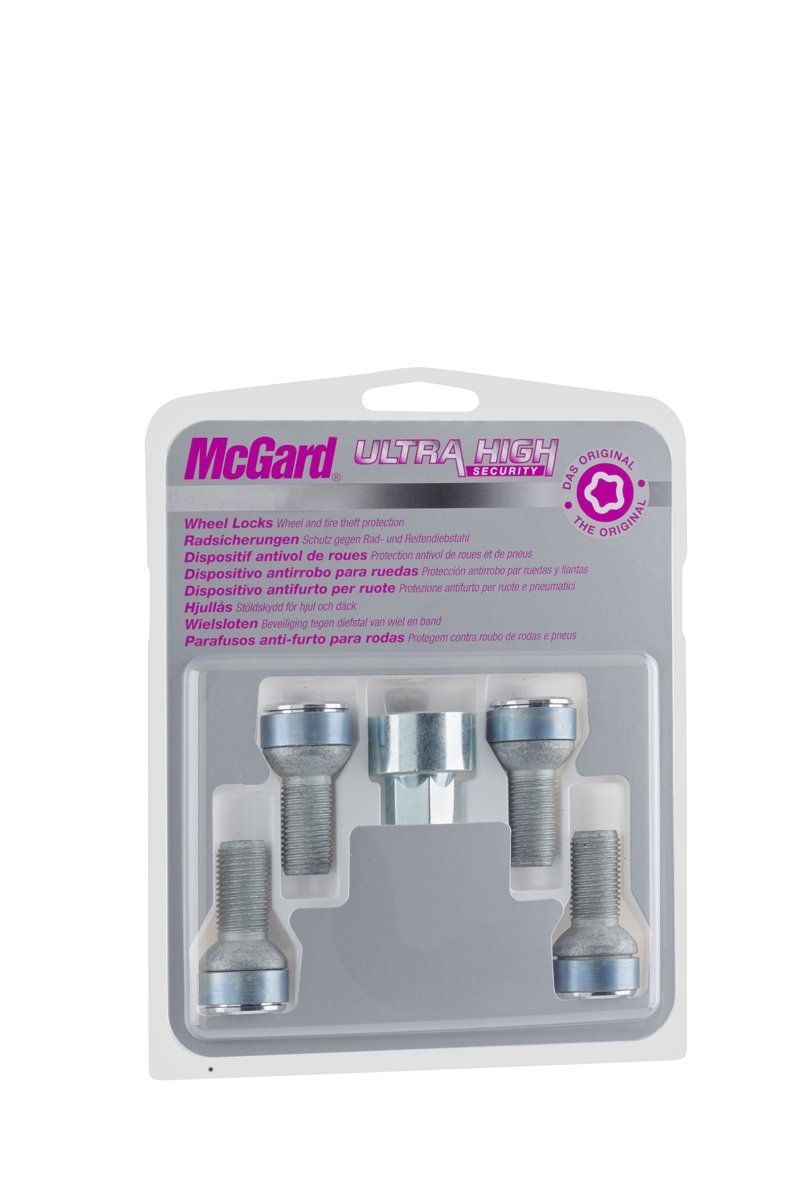 McGard 28018SL Ultra High Security - Tornillos antirrobo para ruedas (base esférica, M14 x 1,5, longitud del vástago 26,7mm, SW17): Amazon.es: Coche y moto