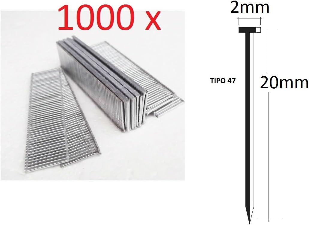 1000/N/ägel 20/mm f/ür Heftger/ät Elektro Parkside Deutsche Qualit/ät Typ 47