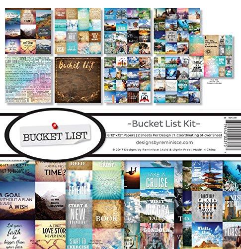 Reminisce (REMBC) BUC-200 Bucket List Scrapbook Collection Kit, Multi Color Palette -