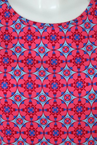 fashion4EVA Oversize-Top Mosaik blue topaz