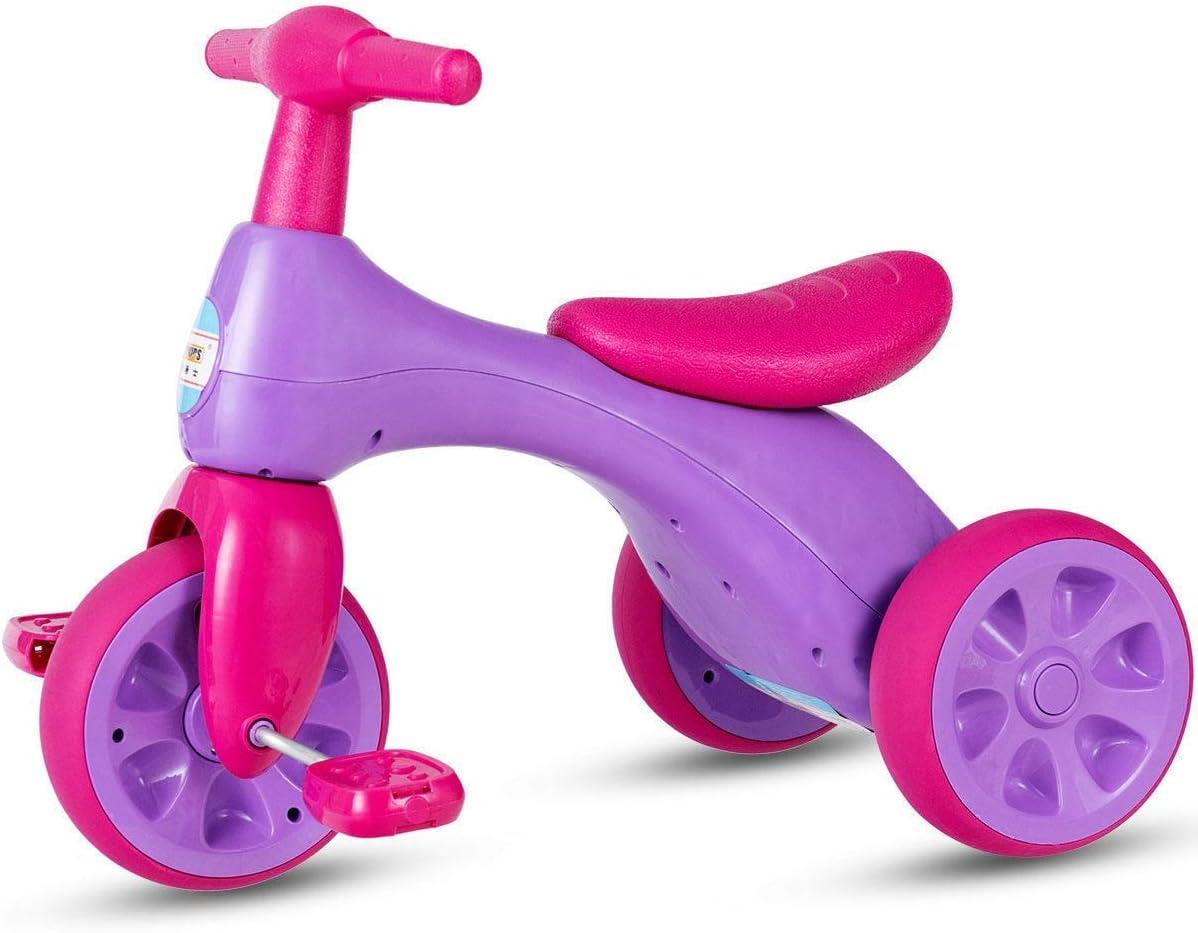 Framy Triciclo Niños, Baby Walker Equilibrio Bicicletas con Pedales con Caja De Almacenamiento, Rider Triciclo para Niños Pequeños 1 2 3 Años De Edad Cubierta De La Bicicleta Al Aire Libre