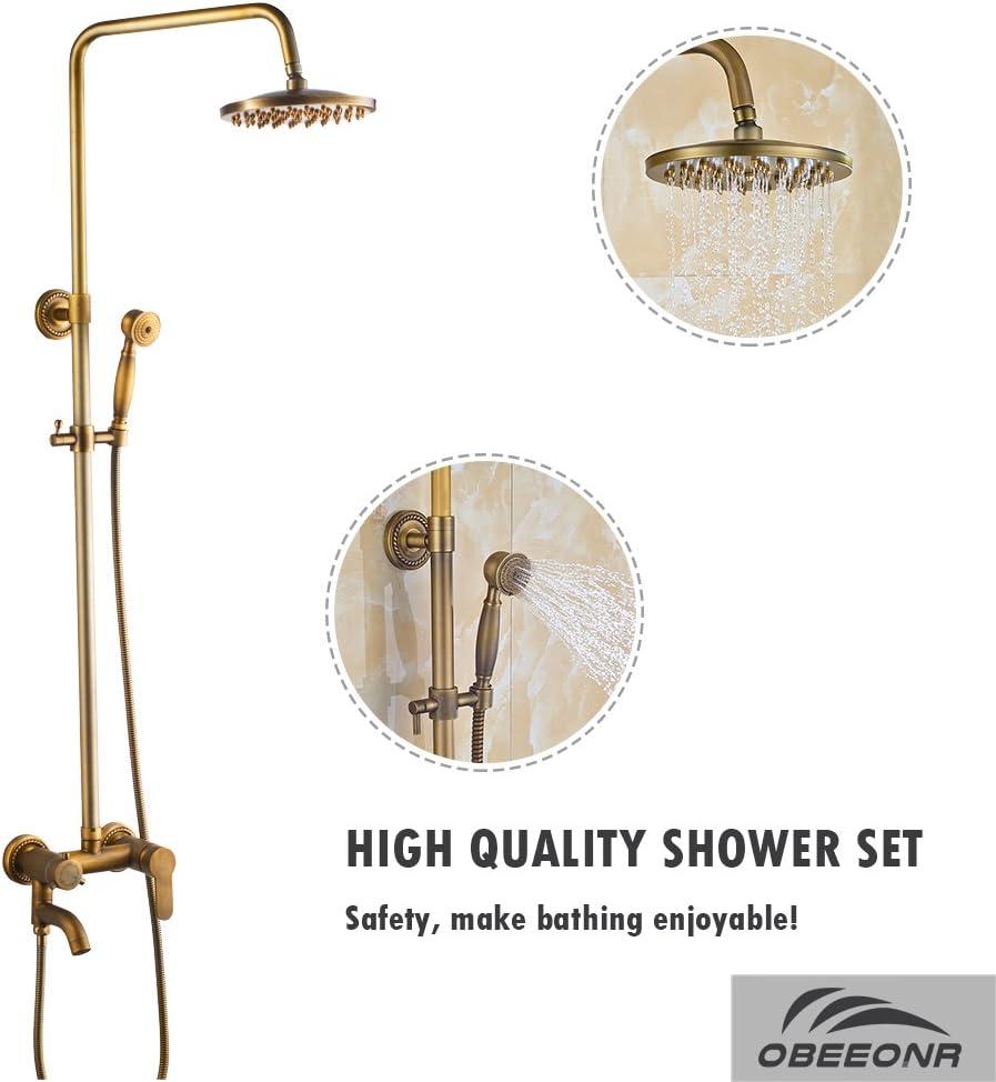 obeeonr Vintage ducha set con grifo ducha Kit completo con ...