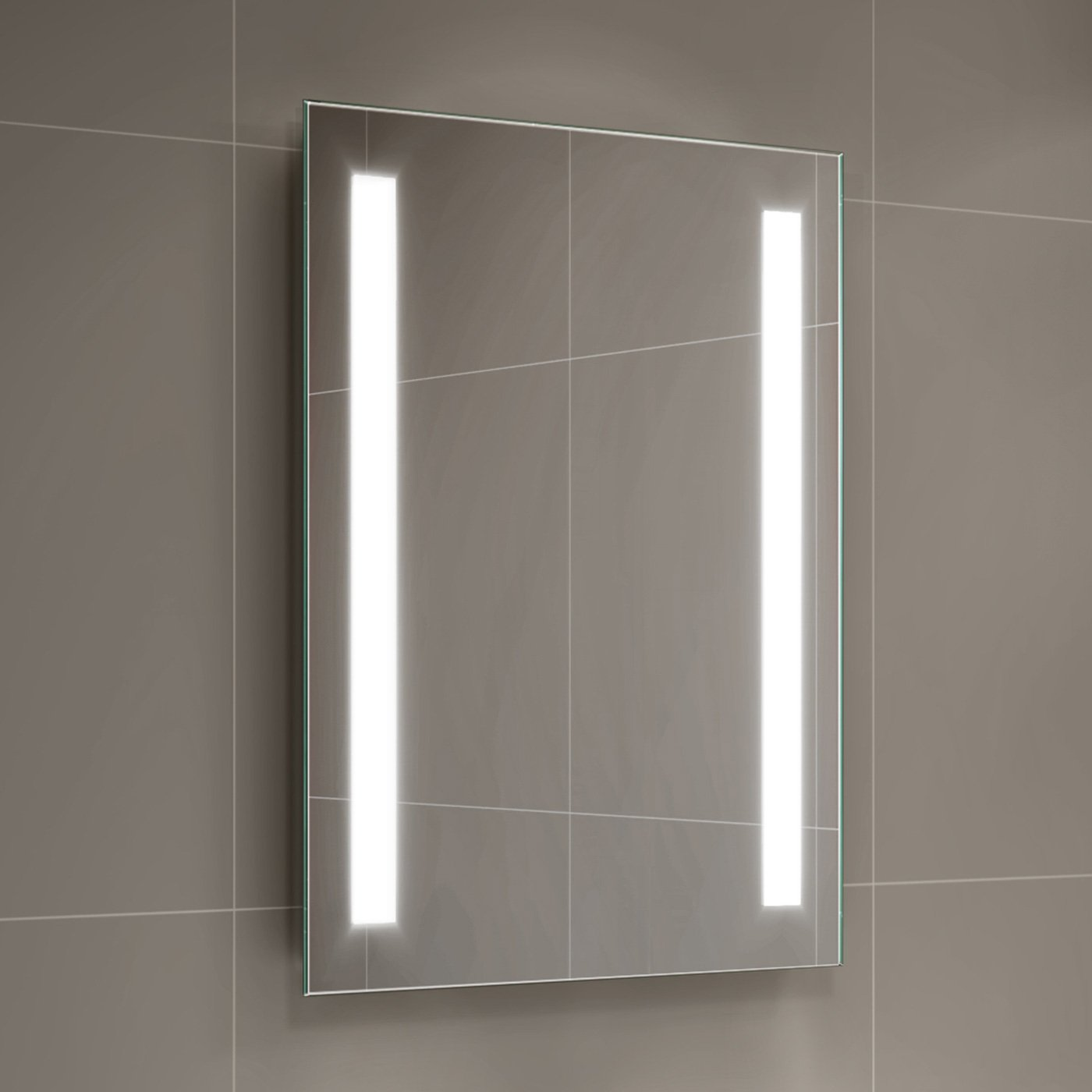 500 x 700 mm Modern Illuminated Battery LED Light Bathroom Mirror MC159 iBathUK