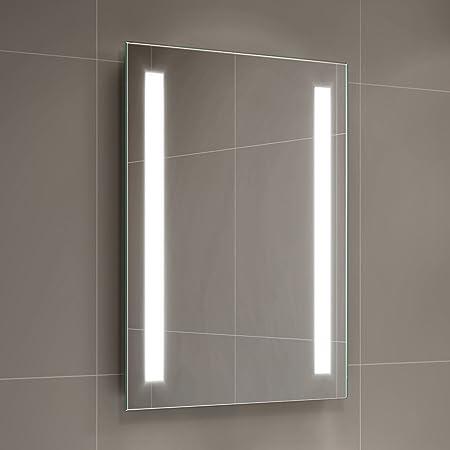 Ibathuk 500 x 700 mm modern illuminated battery led light bathroom ibathuk 500 x 700 mm modern illuminated battery led light bathroom mirror mc159 mozeypictures Choice Image