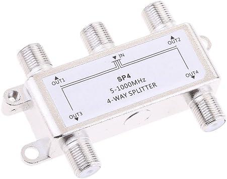 H HILABEE 4 Way Splitter 5-1000 MHz señal Catv Splitter TV ...