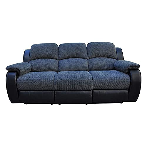 Romatlink Three-Seat Sofa Chair, Arm Chair, Recliner Sofa, with an Expandable Foot Pad, Can Liberate Both Feet, Reclining Cushion Back, Long Couch, Modern Style and Comfort to Any Livingroom