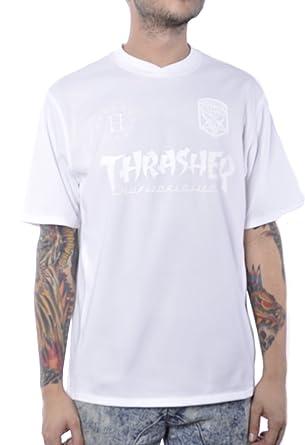 5c834b3c2e5 HUF x Thrasher Soccer Jersey 2.0 White Large: Amazon.co.uk: Clothing