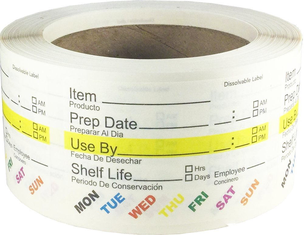 Dissolvable Food Rotation Labels for Food Storage Use by Preparation Canning Stickers 2 x 3 Inch 500 Adhesive Stickers