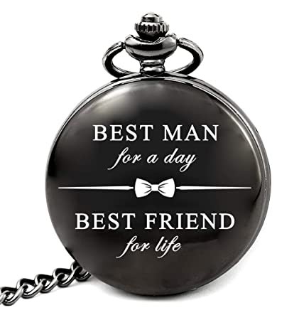 f6d3bfc6e2a39 Image Unavailable. Image not available for. Color  LEVONTA Best Man Gifts  for Wedding Pocket Watch ...