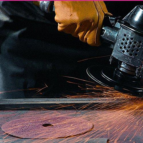 100 Grit 3M Fibre Disc 381C Pack of 25 4-1//2 Diameter Aluminum Oxide 4-1//2 Diameter 051144776009