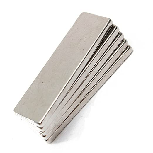 2.6inch Length x 0.51inch Width x 0.2inch Thickness 66x13x5 mm Rare Earth Strong Neodymium Block Bar Magnets 66mm x 13mm x 5mm