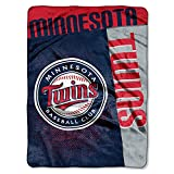 "Minnesota Twins 60""x80"" Royal Plush Raschel Throw Blanket - Strike Design"