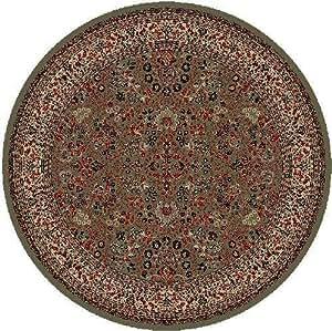 Classics oriental sarouk alfombra verde alfombra redonda for Alfombra redonda verde