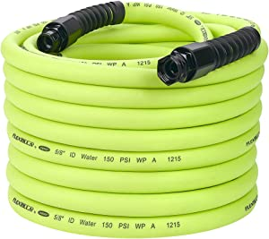 Flexzilla Pro Water Hose with Reusable Fittings, 5/8 in. x 100 ft, Heavy Duty, Lightweight, Drinking Water Safe - HFZWP5100