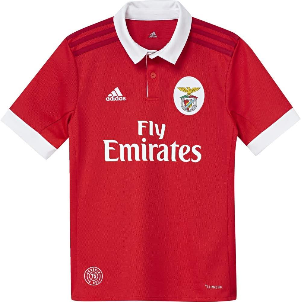 adidas SLB H JSY Y Camiseta 1ª Equipación Benfica 2017-2018, niños, Rojo (Ben.ro/Blanco), 128: Amazon.es: Ropa y accesorios