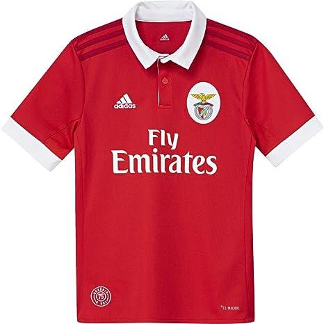 Amazon.com   adidas 2017-2018 Benfica Home Football Soccer T-Shirt ... d18a26f37