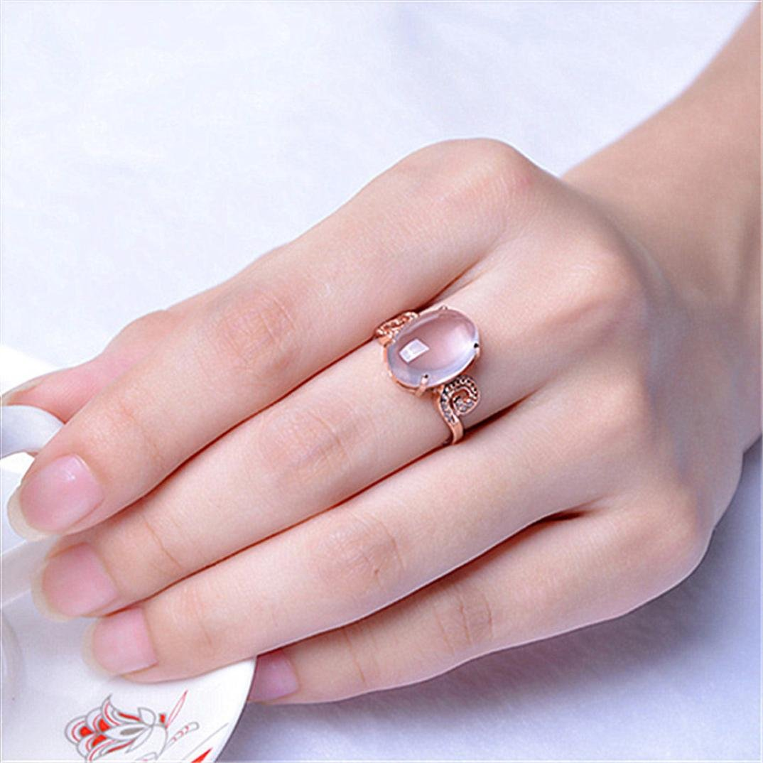 Amazon.com: New Couples Ring Charm Shiny The Adjustable Diamond Ring ...