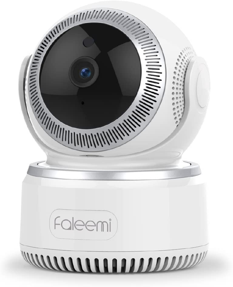 Faleemi 1080P Pan Tilt Wireless WiFi IP Camera, Home Security Surveillance Video Camera with Two Way Audio, Night Vision for Baby Elder Pet Nanny Office Monitor FSC882