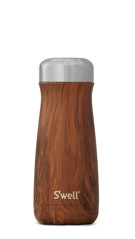 S'well 10316-B17-00820 Stainless Steel Travel Mug, 16oz, Teakwood