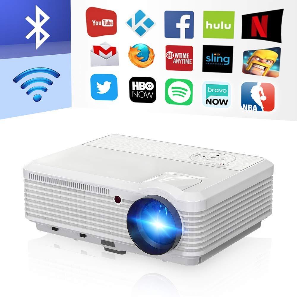 AI LIFE Proyector LCD LED para Juegos Bluetooth Inalámbrico 6000 ...