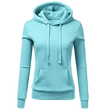d8c7ca1381aa1d Mymyguoe Frauen Beiläufige Sweatshirt mit Kapuze Patchwork Pullover Damen  Bluse Pullover Striped Hoodies Kapuzenpullover Mantel Kapuzenjacke