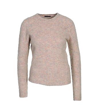 1e857ab6000a8e GRETA   LUIS Damen Pullover in Rosa meliert  Amazon.de  Bekleidung