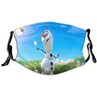 Fro-Zen Cute Olaf Snowmen Bandanas Face Mouth Masks Washable with 2 Filters Balaclava for Boys Girls Adults-Frozen Olaf…