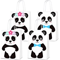 16 PCS Party Favor Bags for Panda Birthday Party Supplies, Party Gift Goody Treat Candy Bags for Panda Party Favors…