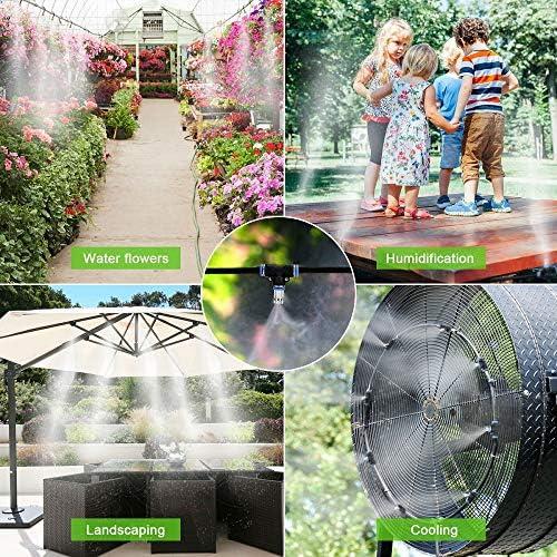 Weeygo Kit Nebulizador Jardin, Sistema de Nebulizacion para Terraza Pergola Exterior, DIY Enfriamiento Nebulizadores con 10 Boquilla (10M): Amazon.es: Jardín
