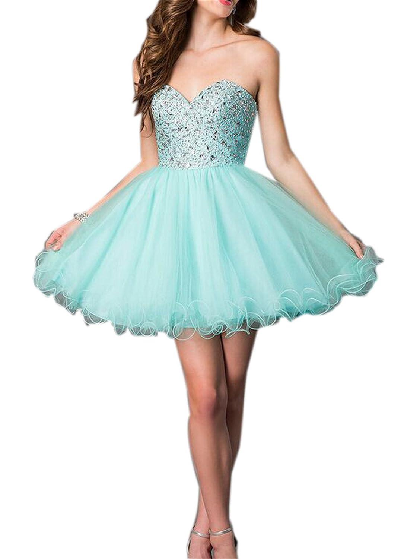 SimpleDressUK Sweetheart Beads Ball Tulle Cocktail Prom Dress