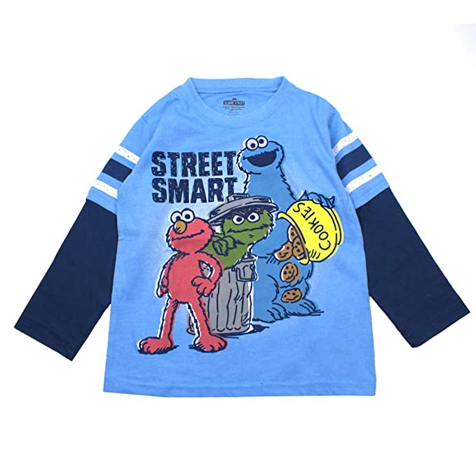 30e8dd664 Image Unavailable. Image not available for. Color: Sesame Street Long  Sleeve T-Shirt Long Sleeve Tees - Elmo, Cookie Monster &