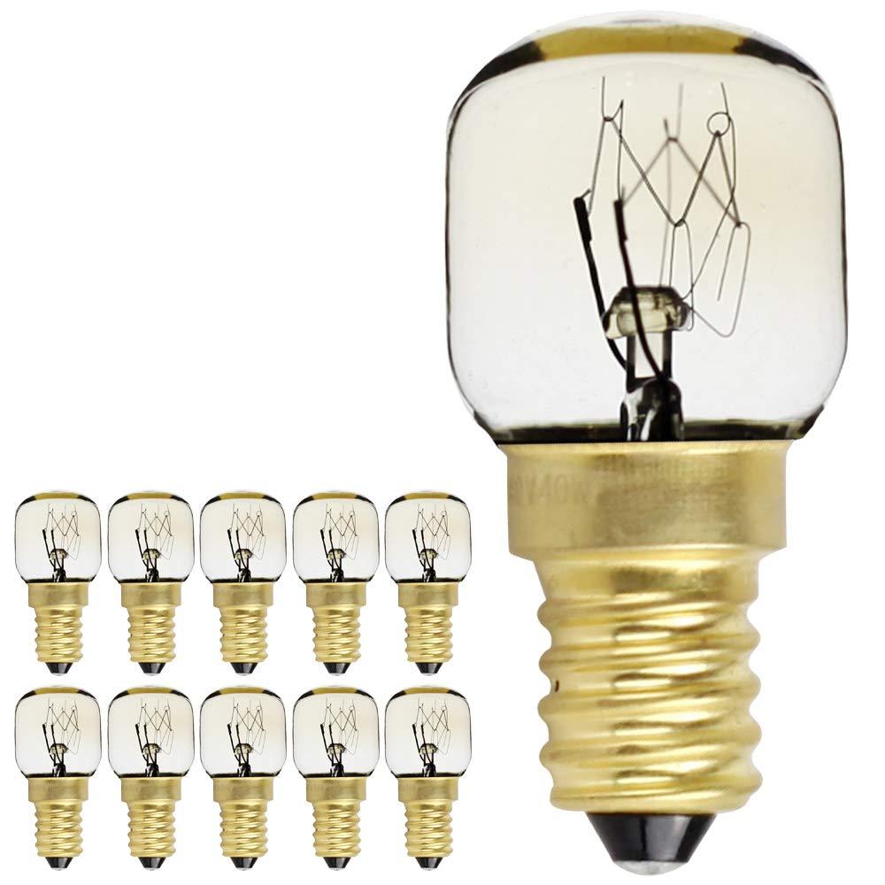 10PIECES/confezione vite E14 SES, lampadina con lampadine lampade a 300 gradi microonde/forno nominale notte lampadina, E14 15.00W 240.00V lampadina con lampadine lampade a 300gradi microonde/forno nominale notte lampadina Ltd