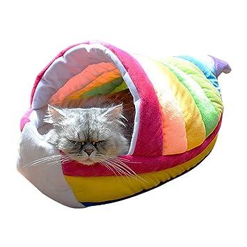 Amazon.com: Cama de gato, casa de gato arco iris, nido/litro ...