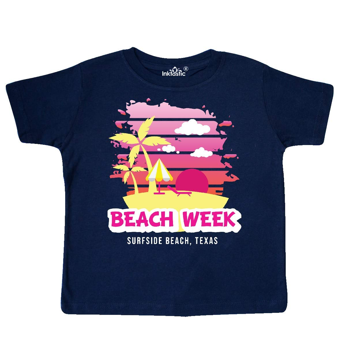 inktastic Beach Week Surfside Beach Texas with Palm Trees Toddler T-Shirt