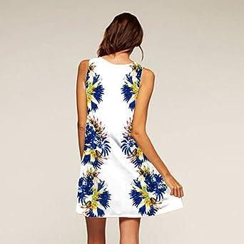TEELONG damska letnia sukienka casual, sukienka z nadrukiem maxi, sukienka wieczorowa, sukienka damska, sukienka na Halloween, sukienka letnia: Odzież