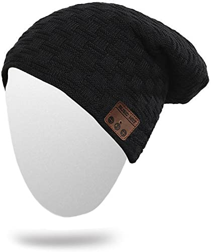 Beanie with Bluetooth, Version 4.2 Bluetooth Beanie Built in Stereo Headphone Headset Speaker for Women, Men Winter Outdoor Sports and Warmth Brown