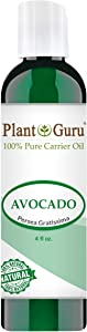 Avocado Oil 4 oz Cold Pressed Carrier 100% Pure Natural Skin, Face, and Hair Growth Moisturizer. Perfect For DYI Creams, Lotions, Lip balm and Soap Making.